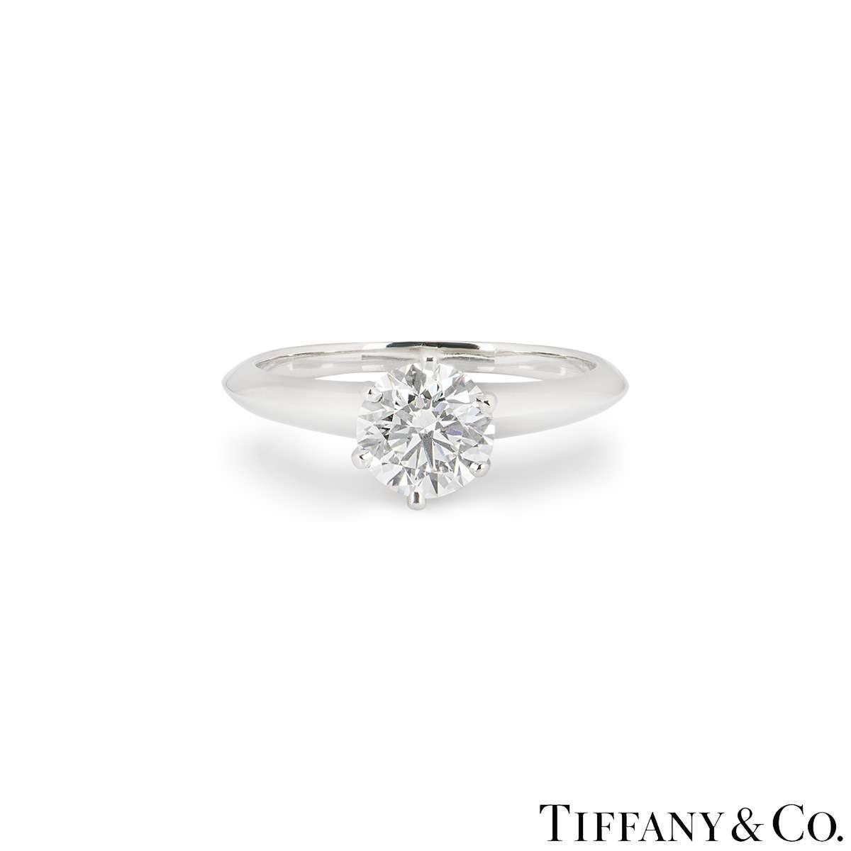 Tiffany & Co. Round Brilliant Cut Diamond Ring 1.14ct H/VVS1